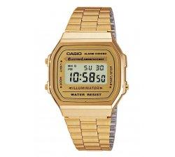 Orologio CASIO Unisex Illuminator A168WG-9EF Acciaio PVD oro dorato Vintage