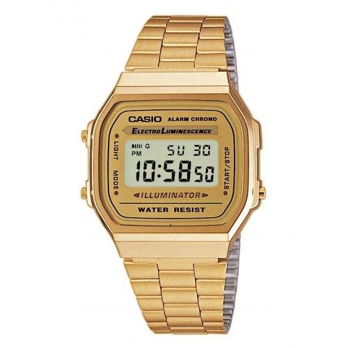 CASIO Unisex Watch A168WG-9EF Steel PVD gold gilt Vintage