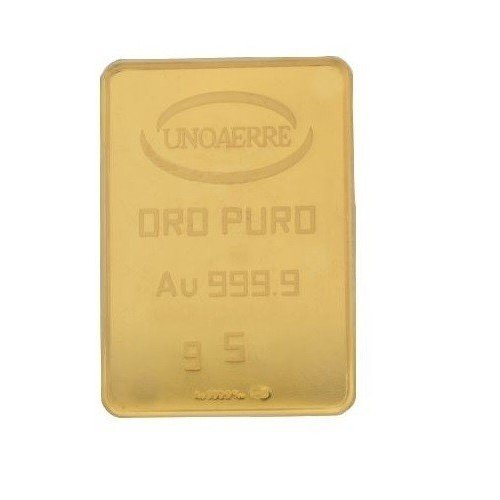 Unoaerre 5 gram ingot in pure 24 Carat 999/00 gold