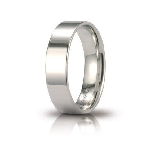 Unoaerre Wedding Ring Circles of Light 5 mm White Gold