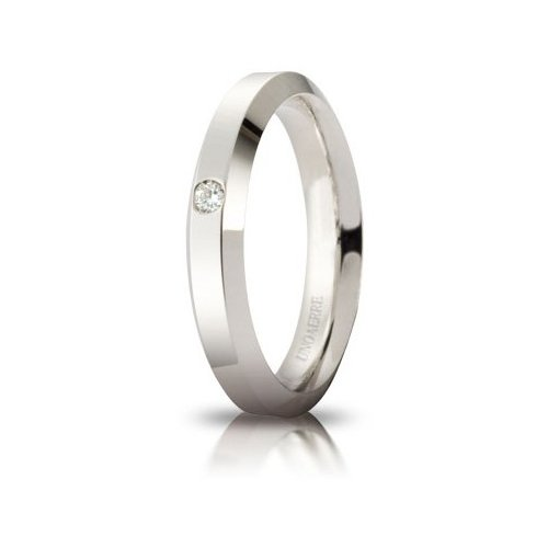 Unoaerre Hydra Wedding Ring with Diamond White Gold Brilliant Promises