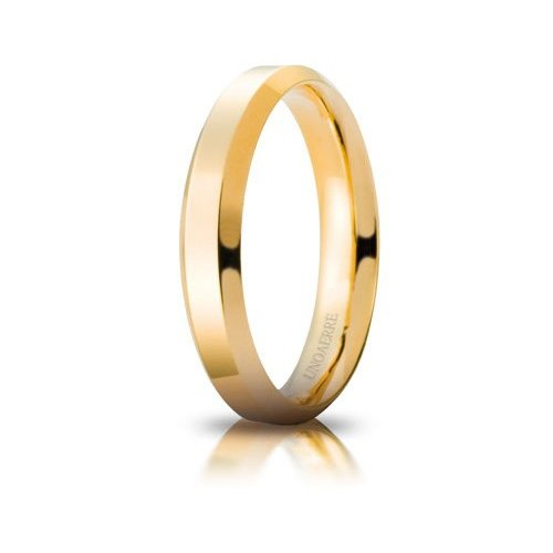 Unoaerre Hydra Wedding Ring Yellow Gold Brilliant Promises