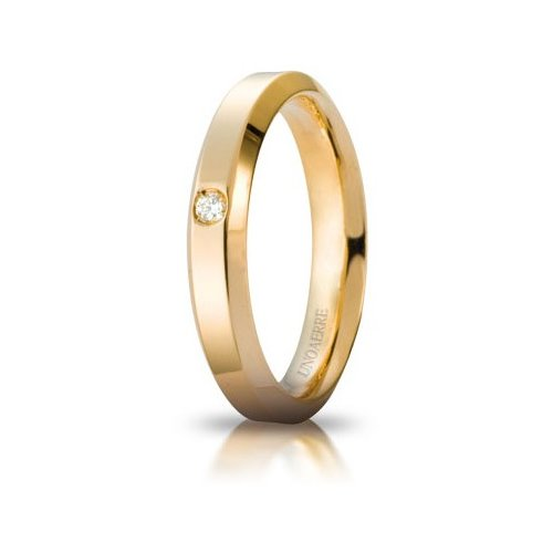 Unoaerre Hydra Wedding Ring with Diamond Yellow Gold Brilliant Promises