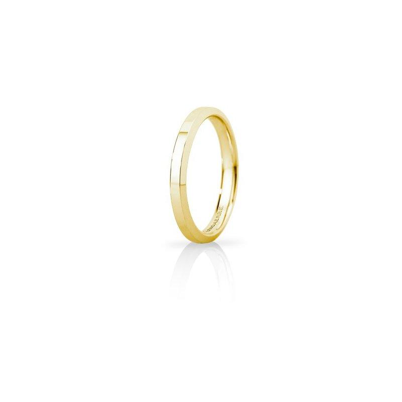 FEDE Matrimoniale ANELLO Nuziale UNOAERRE hydra slim oro giallo 18 kt