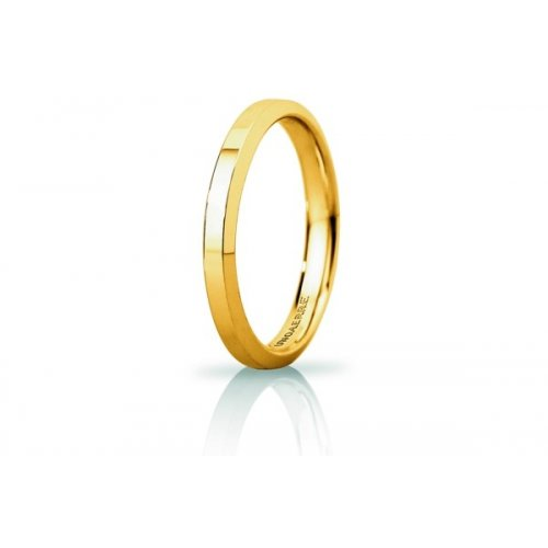 Unoaerre Hydra Slim Wedding Ring Yellow Gold Brilliant Promises