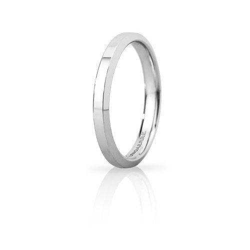 Unoaerre Hydra Slim Wedding Ring White Gold Brilliant Promises