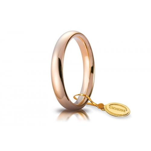 Unoaerre Comfortable Wedding Ring 3.5 mm Rose Gold