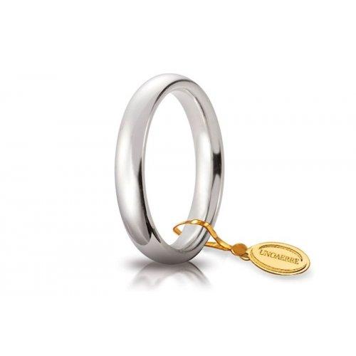Fede Nuziale Unoaerre Comoda 3,5 mm Oro bianco