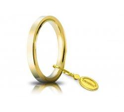 Unoaerre Wedding Ring Circles of Light 2.5 mm Yellow Gold