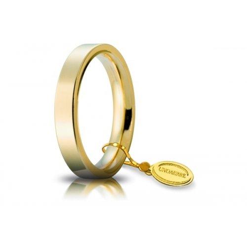 Unoaerre Wedding Ring Circles of Light 3.5 mm Yellow Gold
