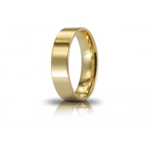Fede Nuziale Unoaerre Cerchi di Luce 5 mm Oro Giallo