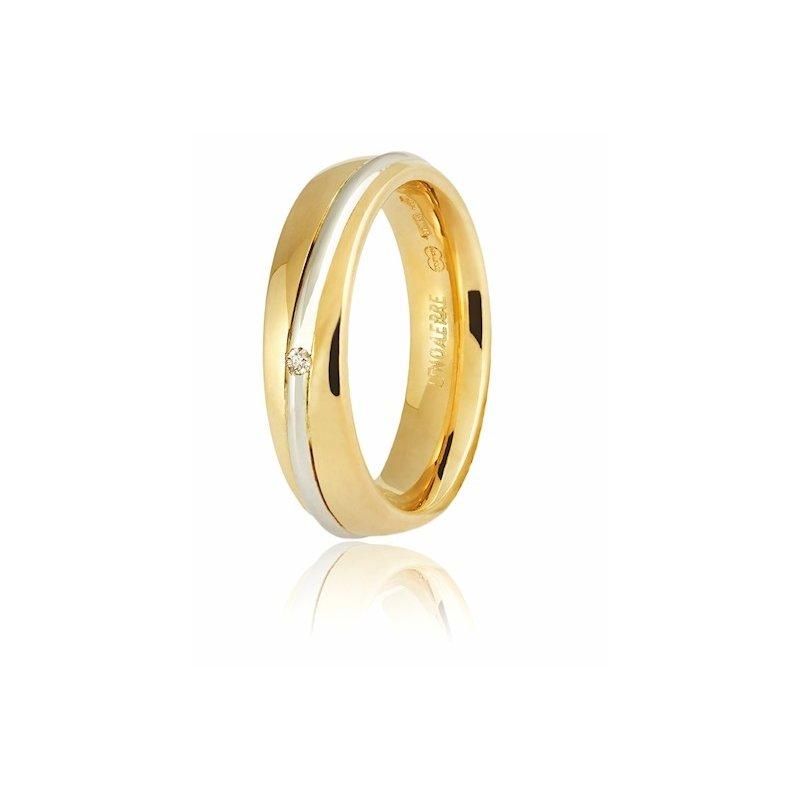 molto carino b3bd1 a4246 Fede Unoaerre modello Saturno Oro giallo e bianco con diamante Collezione  9.0 - GioielleriaLucchese.it