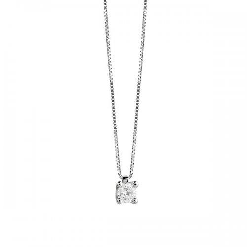 Collana girocollo punto luce Salvini in oro bianco e diamante 20067680