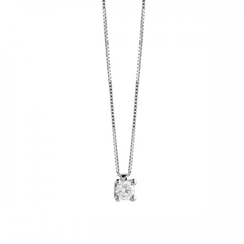 Collana girocollo punto luce Salvini in oro bianco e diamante 20067683
