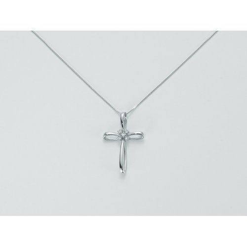 Yukiko cross necklace in gold with diamonds CLD3668Y