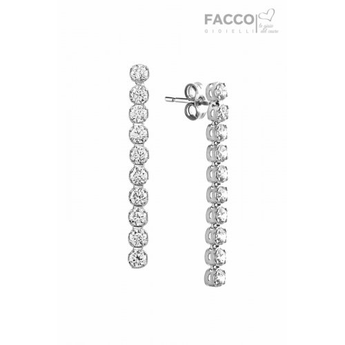 Facco Gioielli earrings in 750 white gold with zircons 697003