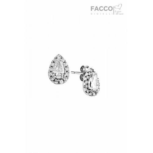 Orecchini Facco Gioielli in oro bianco 750 con zirconi 712525