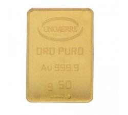 Lingotto Unoaerre da 50 grammi in Oro puro 24 Carati 999,9/00
