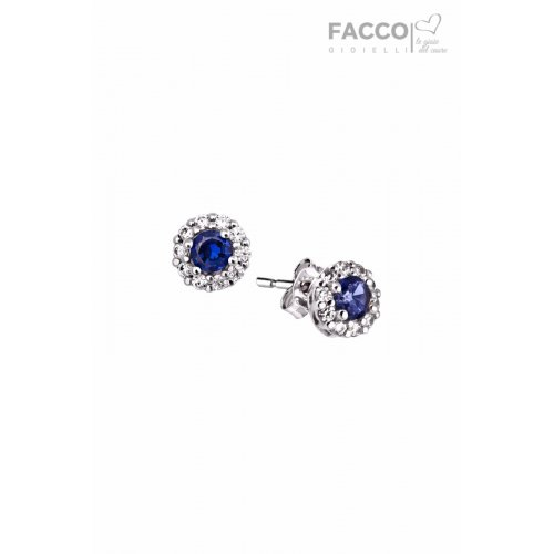 Facco Gioielli earrings in white gold with zircons 713721