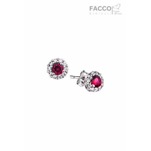 Facco Gioielli earrings in white gold with zircons 712543