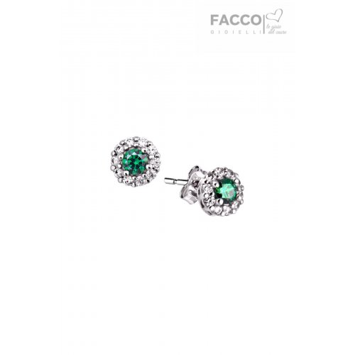 Facco Gioielli earrings in white gold with zircons 712545