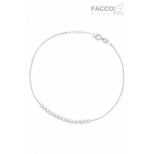 Bracciale Facco Gioielli in Oro Bianco e Zirconi 725858