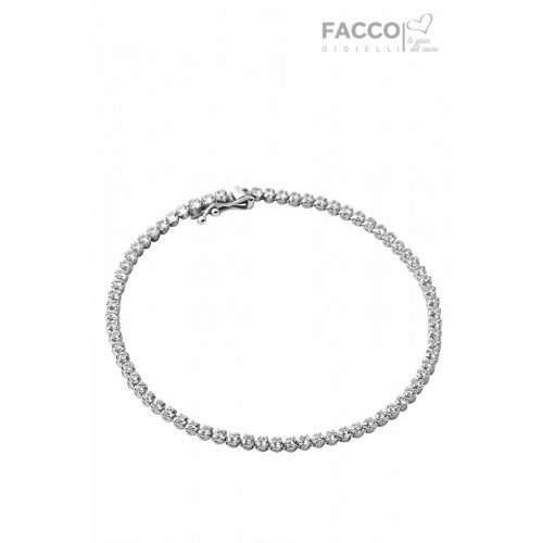 Facco Gioielli Tennis Bracelet in White Gold and Zircons 703499
