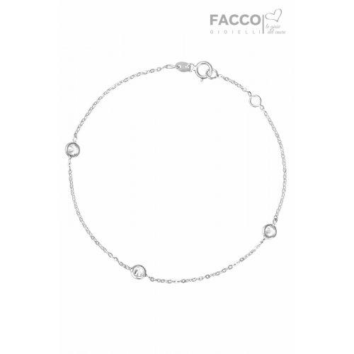 Facco Gioielli Bracelet in White Gold and Zircons 727527