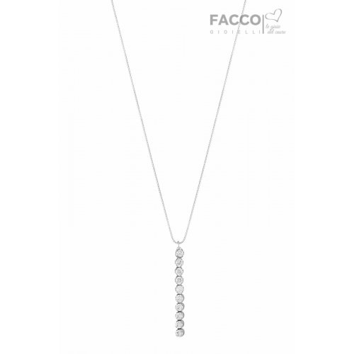 Facco Gioielli Necklace in White Gold and Zircons 703503