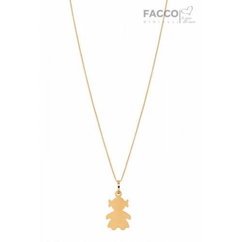 Facco Gioielli Necklace in Yellow Gold Bimba Pendant 715664
