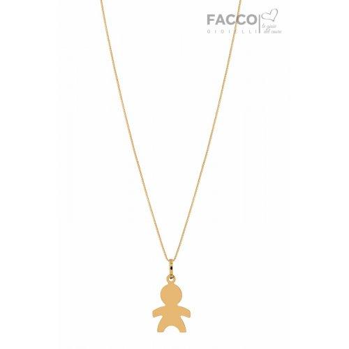Facco Gioielli Necklace in Yellow Gold Bimbo Bebè Pendant 715660