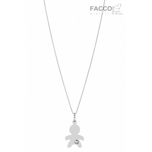 Facco Gioielli Necklace in White Gold Bimbo Bebè Pendant 715683