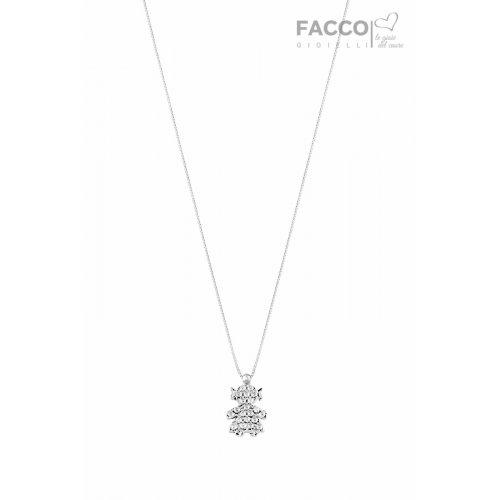 Facco Gioielli Necklace in White Gold Pendant Bimba Bebè 715746