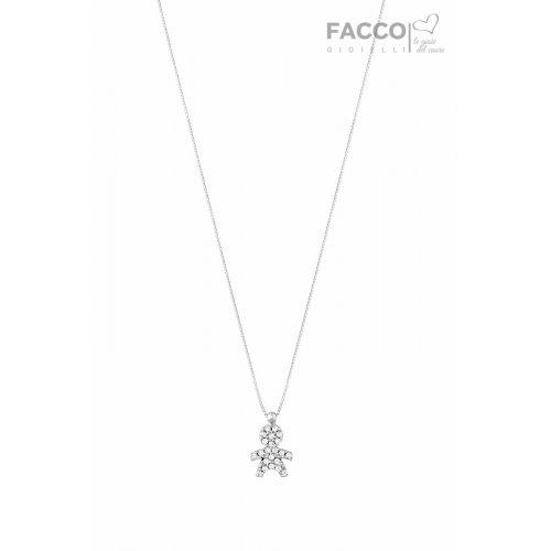 Facco Gioielli Necklace in White Gold Pendant Bimbo Bebè 715748