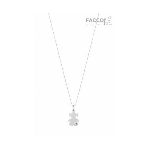Collana Facco Gioielli in Oro bianco Ciondolo Bimba Bebè 715688