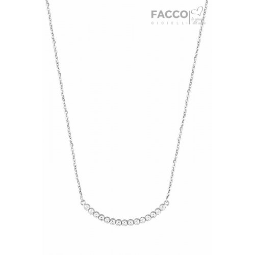 Facco Gioielli Necklace in White Gold and Zircons 725857