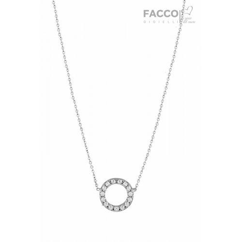 Facco Gioielli Necklace in White Gold and Zircons 727534