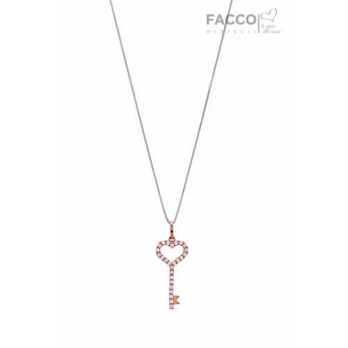 Facco Gioielli Necklace in White Gold and Zircons 727515