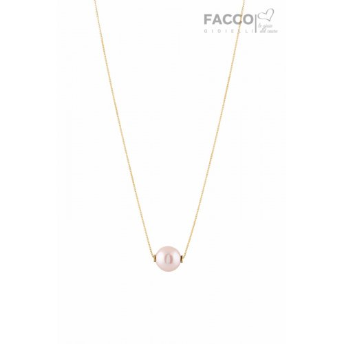 Facco Gioielli necklace in yellow gold with pearl 712333