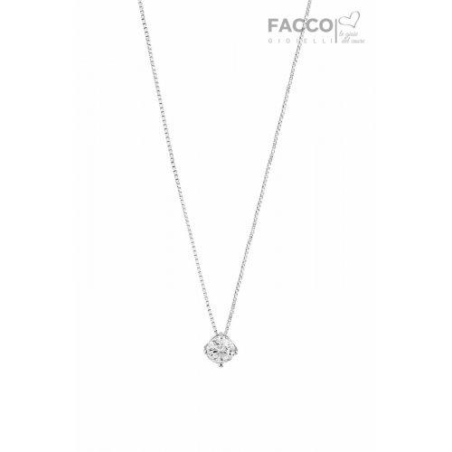Facco Gioielli light point necklace in White Gold 699102