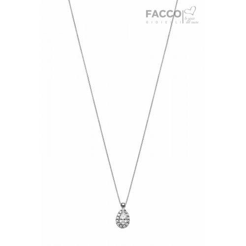 Facco Gioielli necklace in white gold and zircons 712527