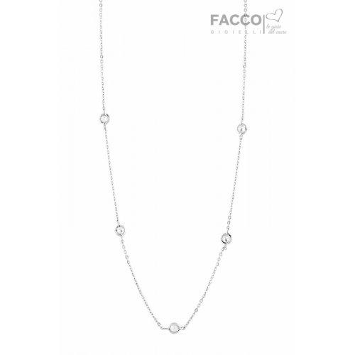 Facco Gioielli necklace in white gold and zircons 727530