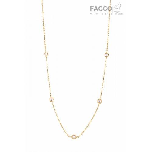 Collana Facco Gioielli in Oro giallo e zirconi 727531