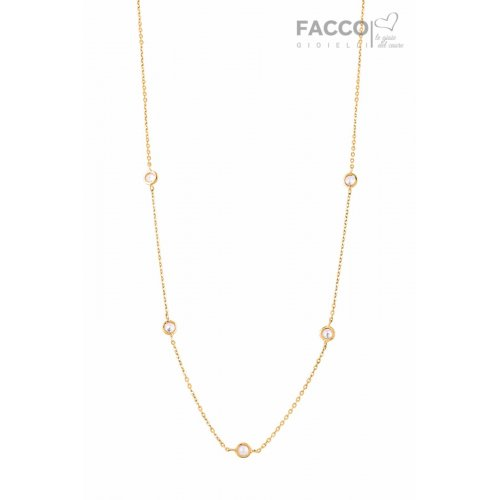 Facco Gioielli necklace in yellow gold and zircons 727531