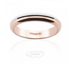 Wedding Ring Diana White and Rose Gold bicolor FDB4N6RB