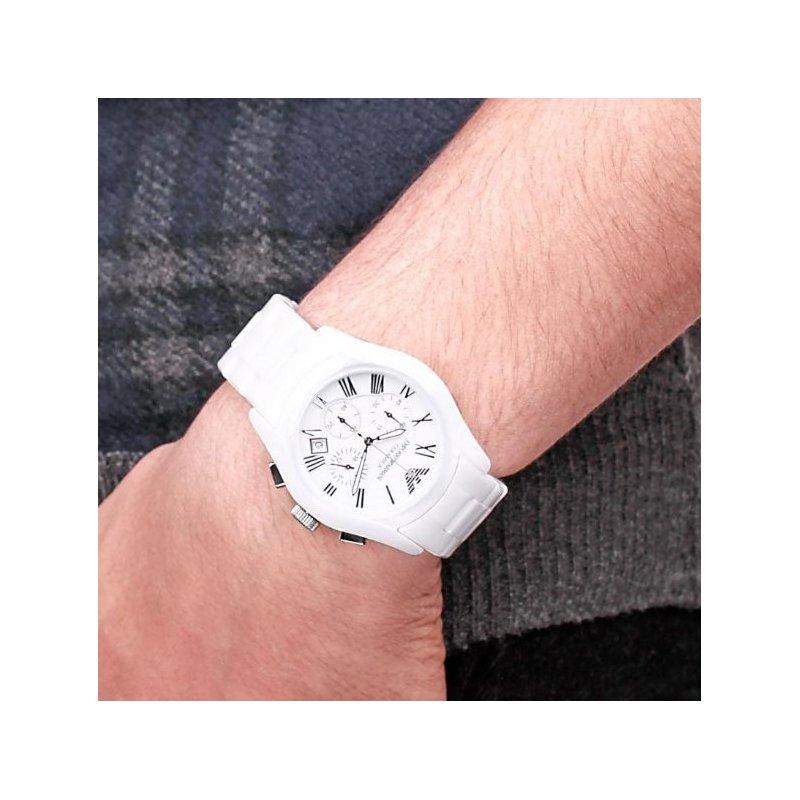 Orologio Emporio Armani da uomo in ceramica bianco AR1403 ...