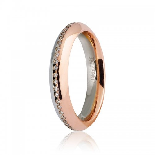 Unoaerre wedding ring Eterna model with diamonds Collection 9.0