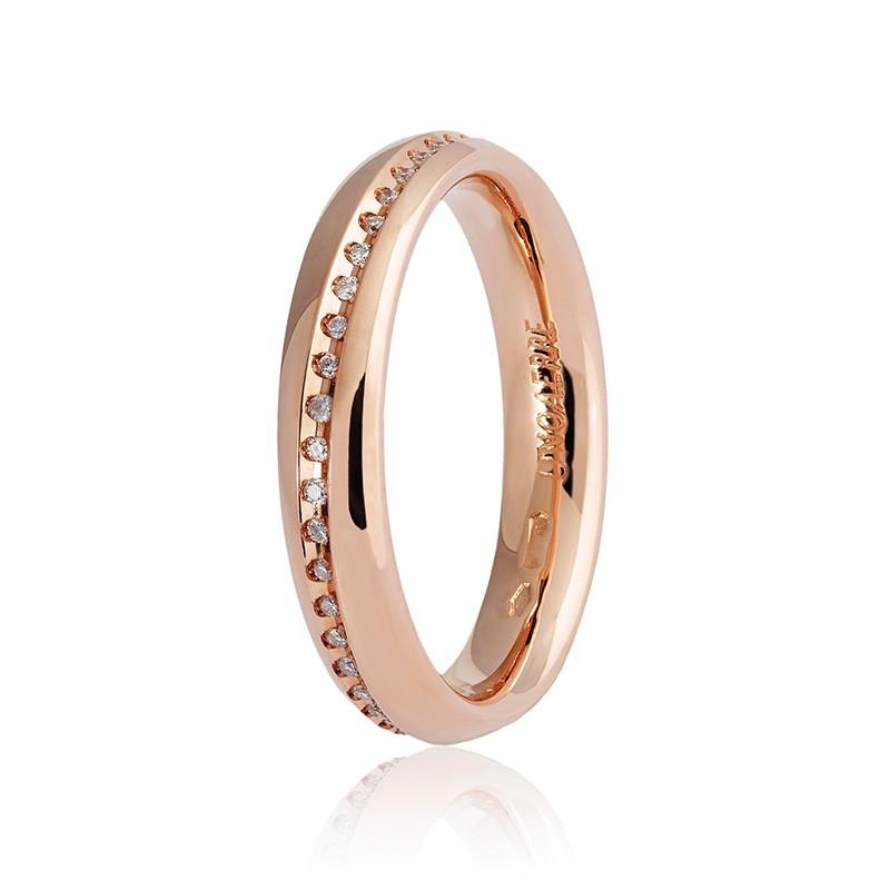 Estremamente Fede Nuziale Unoaerre modello Infinito oro rosa con diamanti  HP88
