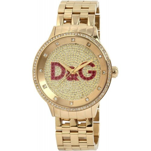 D&G DOLCE E GABBANA Prime Time gold watch DW0377