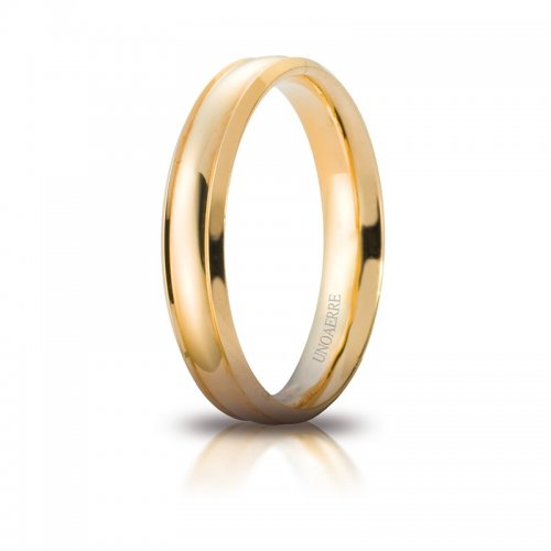 Unoaerre Orion Wedding Ring Yellow Gold Brilliant Promises